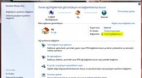 Windows 7 DNS ayarları Nasıl Değiştirilir?